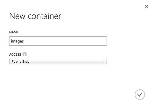 Create a new blob container