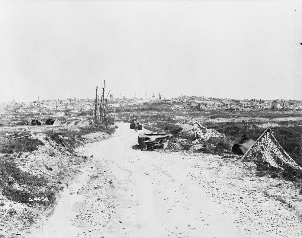 Ce qui restait du village de Monchy-le-Preux en avril-mai 1919.